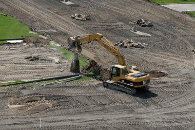 Construction of Alumni Field, Wilfrid Laurier University