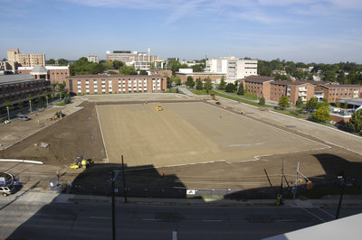 Construction of Alumni Field, Wilfrid Laurier University