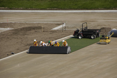 Installation of artificial turf, Alumni Field, Wilfrid Laurier University