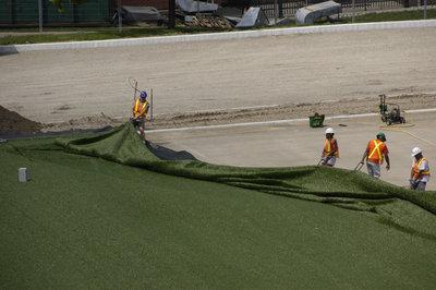 Installation of artificial turf, Alumni Field, Wilfrid Laurier University