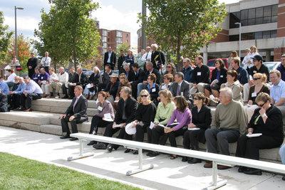 Dedication of Alumni Field, Wilfrid Laurier University