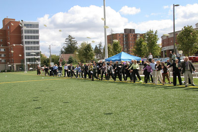 Dedication of Alumni Field, Wilfrid Laurier University