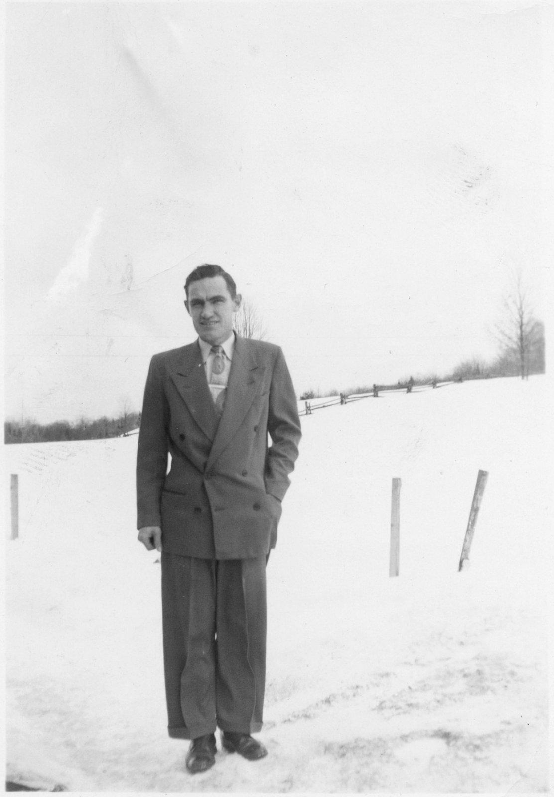 Donald Kranz standing outdoors