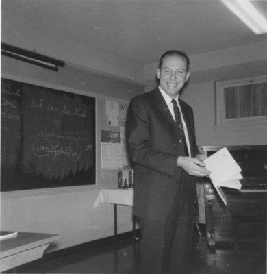 Melvin Janke in classroom