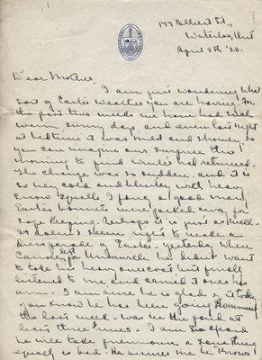 Bonnie Little to Candace Little, April 8, 1928