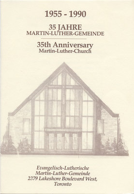 35th anniversary : Martin Luther Church