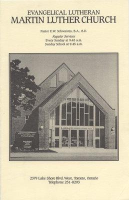 Evangelical Lutheran Martin Luther Church : regular services