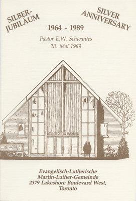 Silver anniversary, 1964-1989 : Pastor E. W. Schwantes