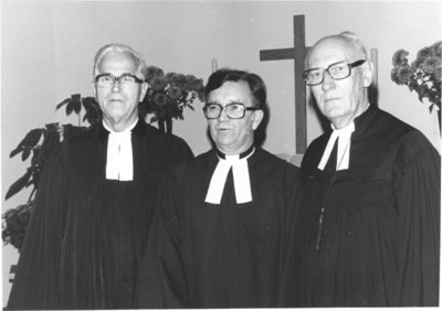 Three pastors at Martin Luther Evangelical Lutheran Church, Toronto, Ontario