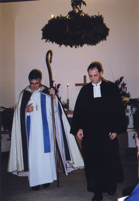 Pastor Stefan Wolf and Bishop Michael Pryse