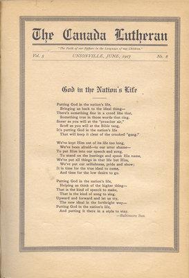 The Canada Lutheran, vol. 5, no. 8, June 1917