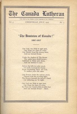 The Canada Lutheran, vol. 5, no. 9, July 1917