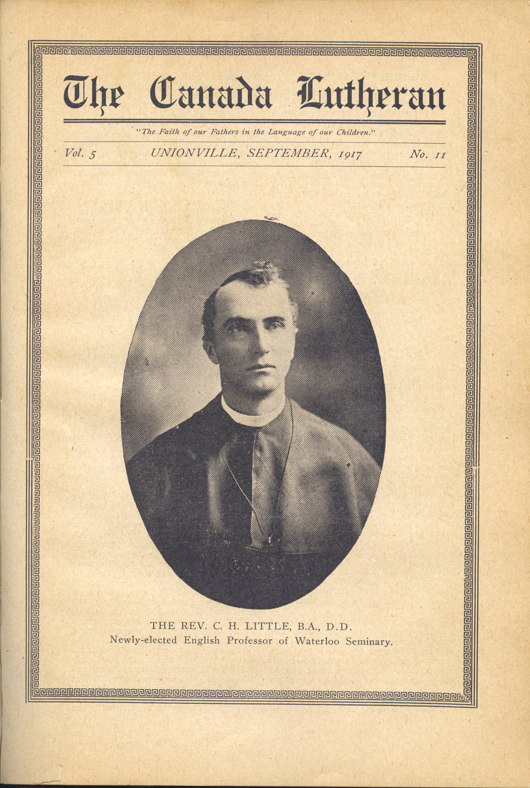 The Canada Lutheran, vol. 5, no. 11, September 1917