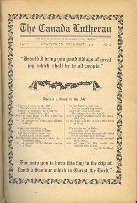 The Canada Lutheran, vol. 6, no. 2, December 1917