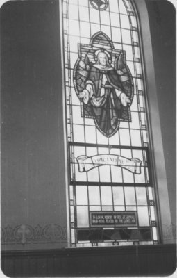 Reverend J. Jannau memorial window, St. John's Lutheran Church, Petawawa, Ontario