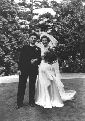 Ulrich Leupold and Gertrude Daber wedding portrait,  July 11, 1942
