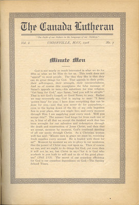 The Canada Lutheran, vol. 6, no. 7, May 1918