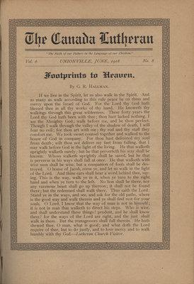 The Canada Lutheran, vol. 6, no. 8, June 1918