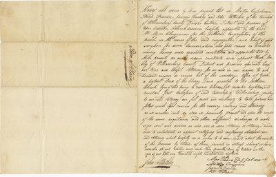 Power of Attorney, Williamsburg County Parish, 1818