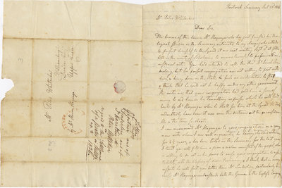 Letter from Ernest L. Haselim to Peter Whitacker, July 23, 1826