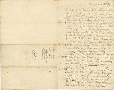 Resolutions prepared by Wardens of the Evangelical Lutheran Church at Williamsburg, February 26, 1827