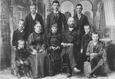 Reverend Conrad Schroeder and family
