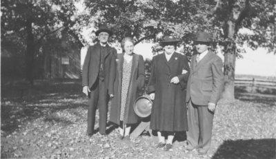 Reverend Conrad Zarnke, Delphine Zarnke, and a man and woman