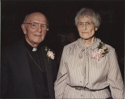 Rev. Hamester and wife at 100th anniversary of Zion Evangelical Lutheran Church, Pembroke, Ontario