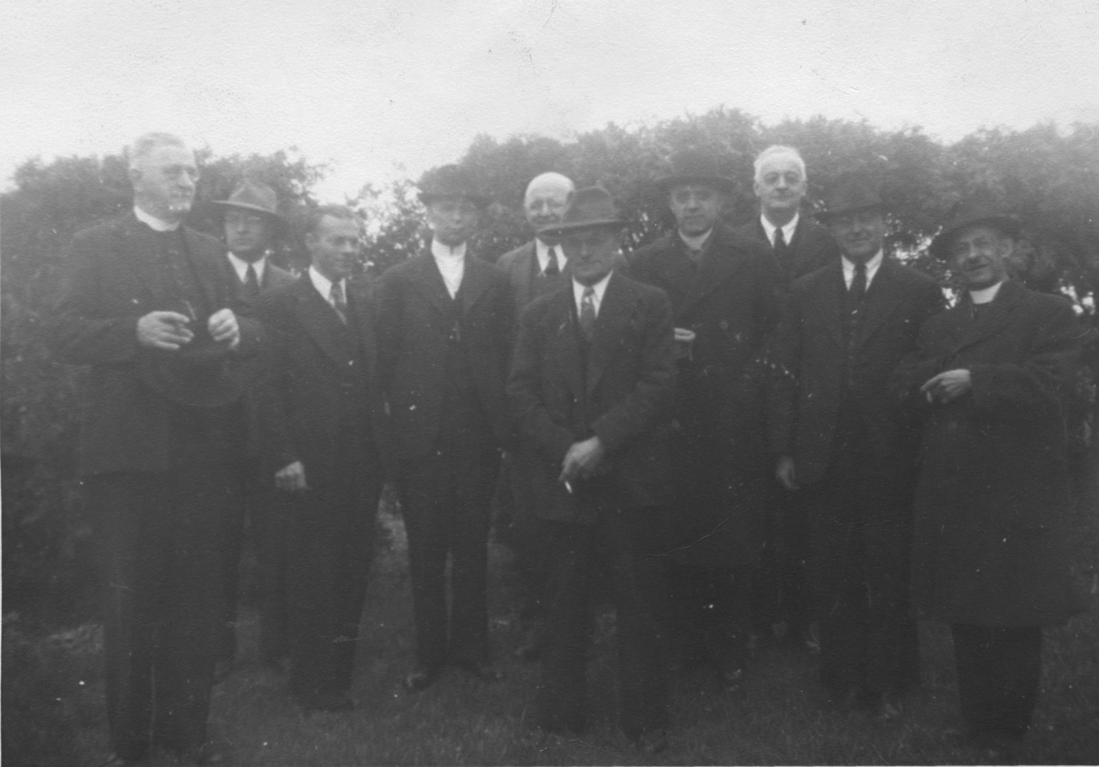 Group of pastors standing outdoors