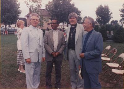 Rev. David Metzger, Rev. Joseph Habibullah, Rev. Douglas Kranz, and Rev. Vernon Cronmiller
