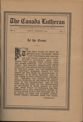 The Canada Lutheran, vol. 7, no. 5, March 1919