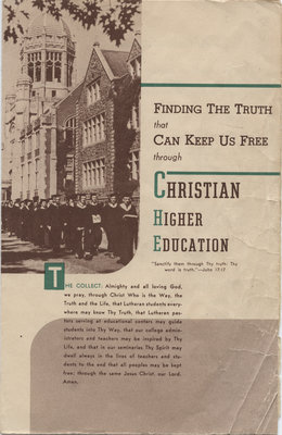 Graduation service of the Evangelical Lutheran Seminary of Canada, 1947