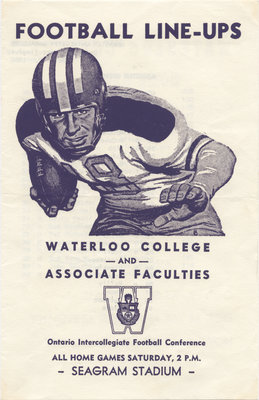 Football line-ups : Waterloo College and Associate Faculties, October 19, 1957