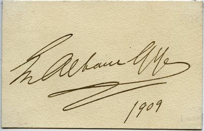 Autograph card - Emma Albani Gye
