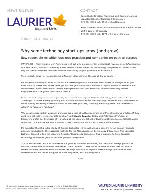 082-2016 : Why some technology start-ups grow (and grow)