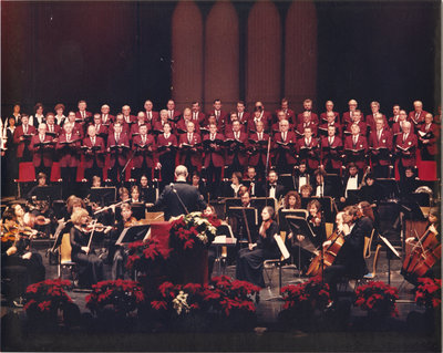 Concordia Choir and the K-W Symphony performing a Christmas concert