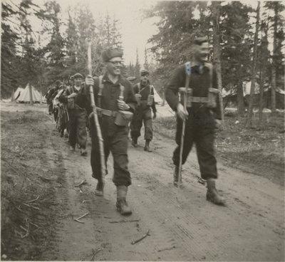 Canadian Officers' Training Corps training, Wainright, Alberta
