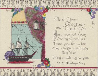 William Lyon Mackenzie King greeting card