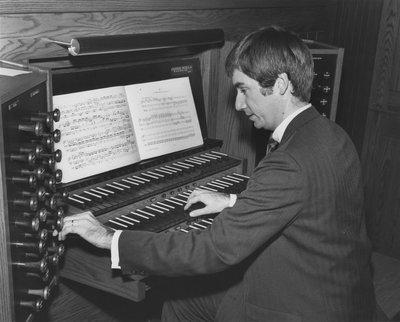 William Wright playing organ at Deer Park United Church, Toronto