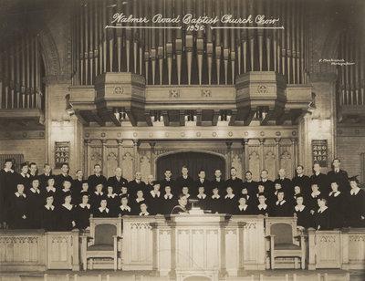 Walmer Road Baptist Church Choir, Toronto, 1936