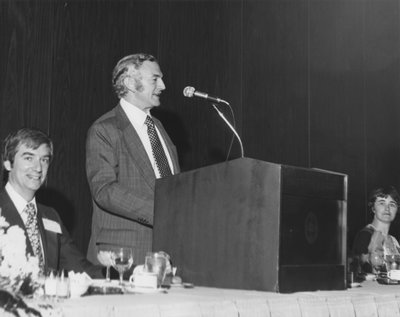 Alec Wyton speaking at 1975 Royal Canadian College of Organists National Convention