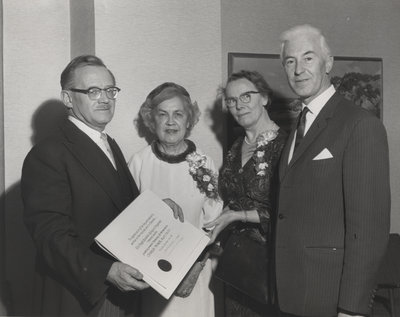 Charles and Marie Peaker with Melville and Marion Cook