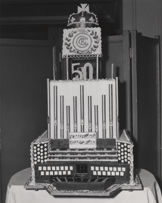 Royal Canadian College of Organists 50th anniversary cake