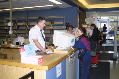 Wilfrid Laurier University Library Circulation Desk