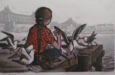 Girl with Gulls