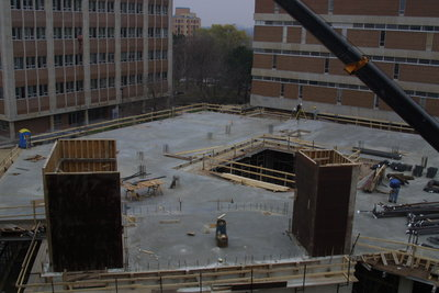 Construction of the Schlegal Building at Wilfrid Laurier University