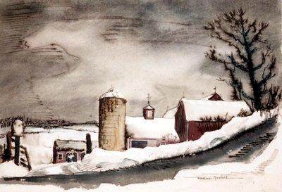 Barns in Deep Snow