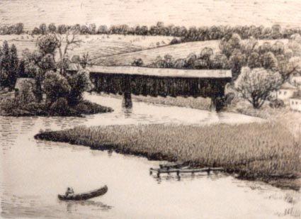 Covered Bridge Across the Conestogo River