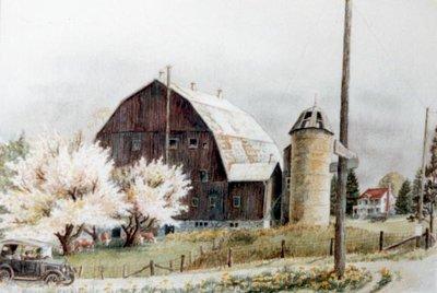 Hallman's Farm on Erb Street, Circa 1925