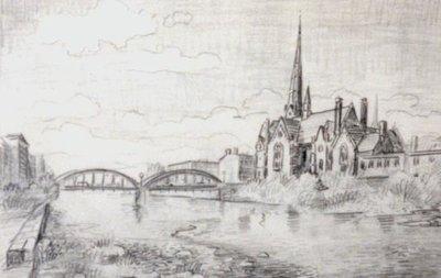 A Church, Grand River in Galt